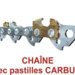 chaine tronconneuse carbure de tungstène