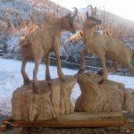 sculpture sur bois a la tronconneuse