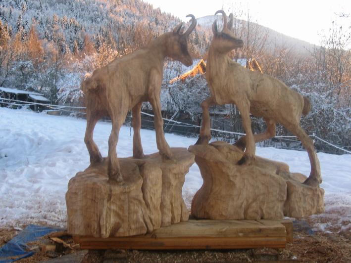 sculpture tronconneuse