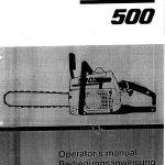 tronconneuse partner 500